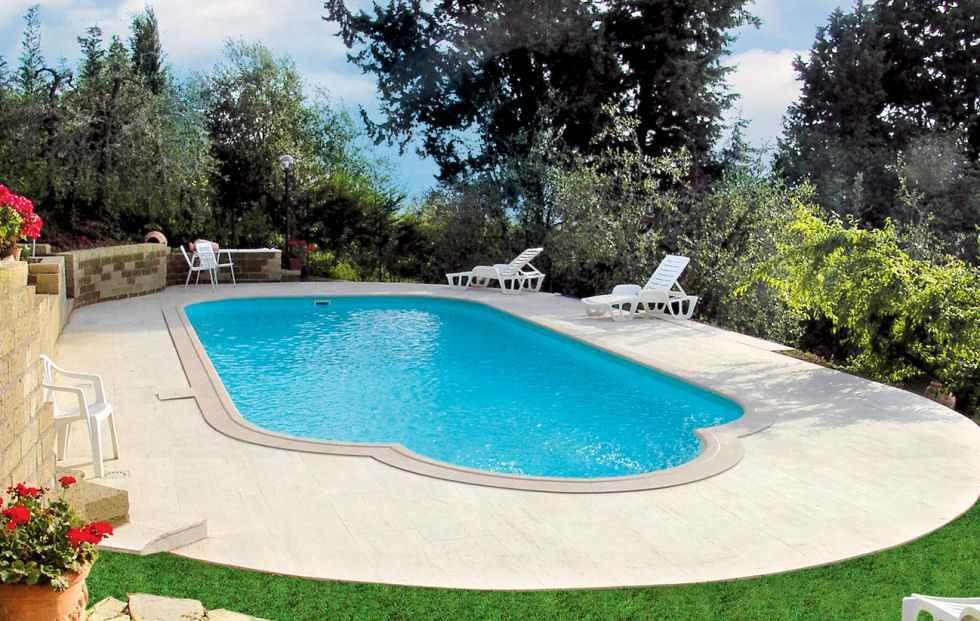 Plastový bazén Classic s vonkajším schodiskom