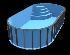 Plastový bazén OVAL
