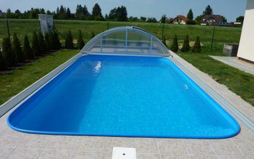 Bazén zaoblený Classic s lemom z trubky