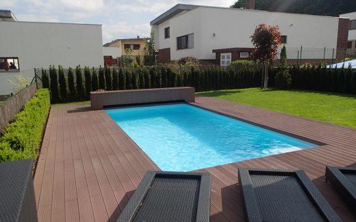 Bazén hranatý - MODERN. Kvalitný lacný moderný bazén s hranatými rohmi