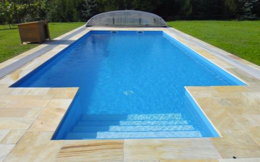Bazén hranatý MODERN s vonkajšími schodíkmi