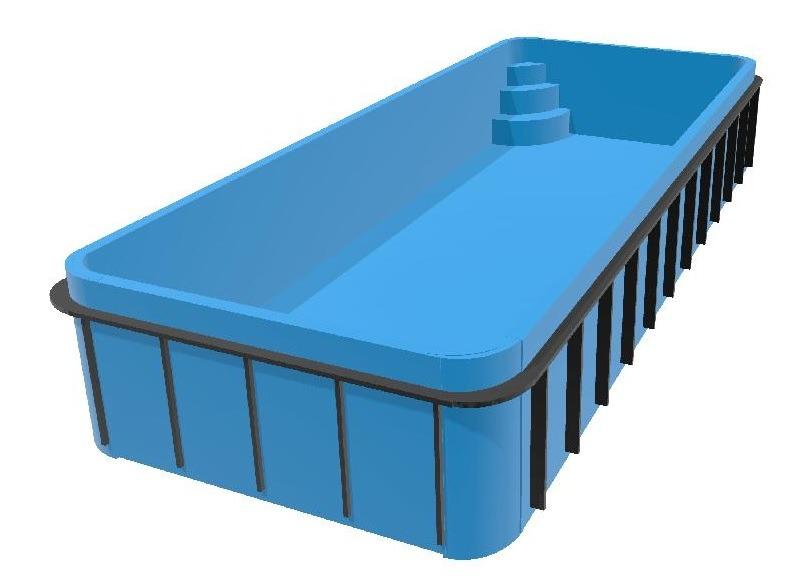 Bazén zaoblený