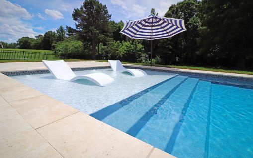 Bazén ležadlový - RELAX. Plastový bazén s ležadlovou časťou na opalovanie alebo hranie sa s detmi