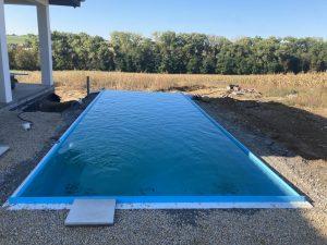 Modrý bazén nekonečný INFINITY