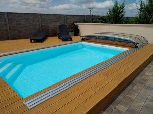 Bazén Modern hranatý biely