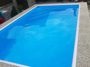 Bazén s hliníkovým lemom