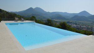 Biely bazén nekonečný - INFINITY