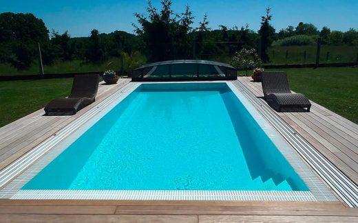 Biely prelivový bazén PRELIV