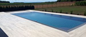 Tmavo šedý prelivový bazén PRELIV